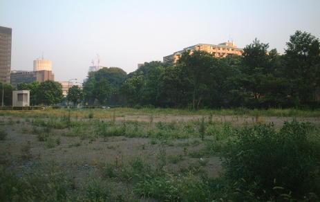 2001年7月時点の竹平寮跡地